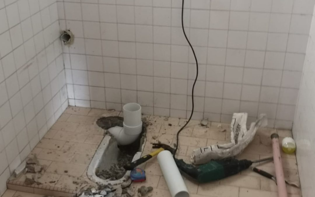 Replace The Bathroom Tile And Change The Squat toilet To Seated Toilets At Joo Chiat Road