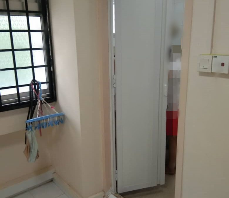 Install Toilet Door In Jurong Lake Link