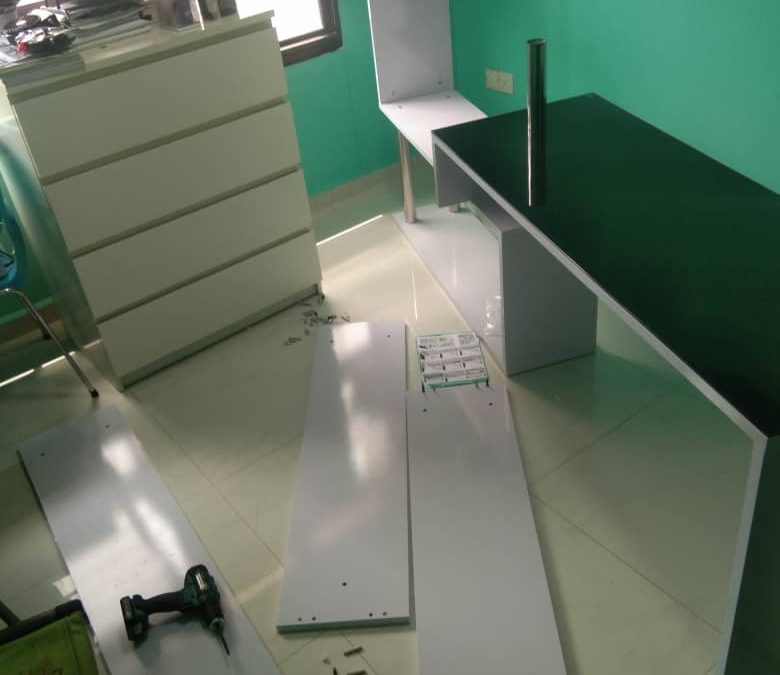 Assemble Study Desk And Book Shelf Set In Jurong West